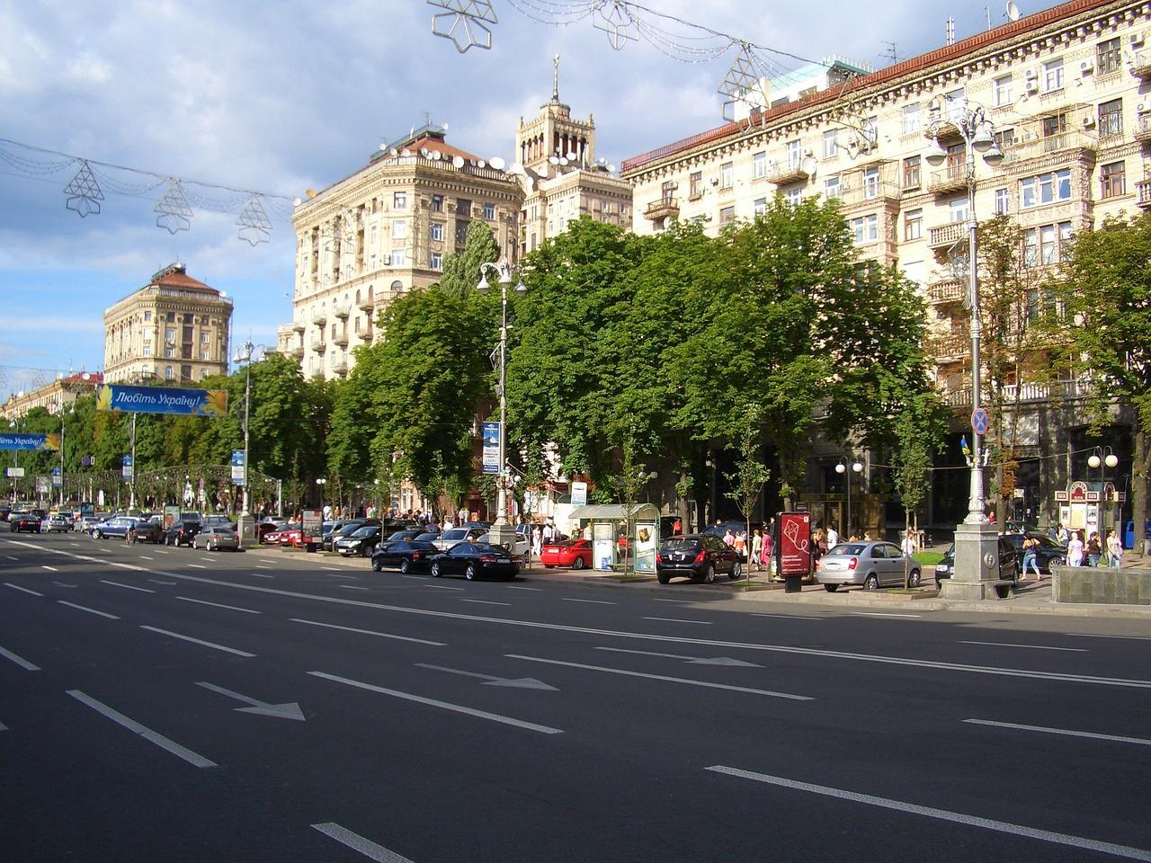 A day in Kyiv Khreshchatyk