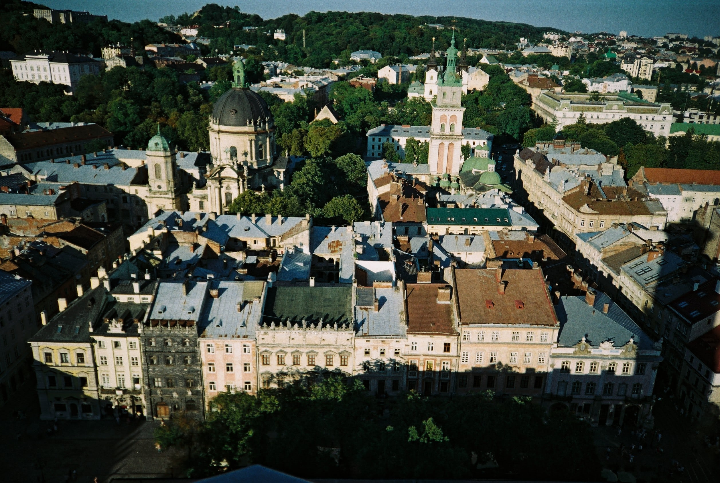 A day in Lviv view from town hall tower-small