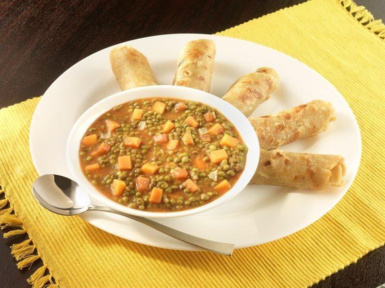 Vegan in Zanzibar Chapati with Mung Beans