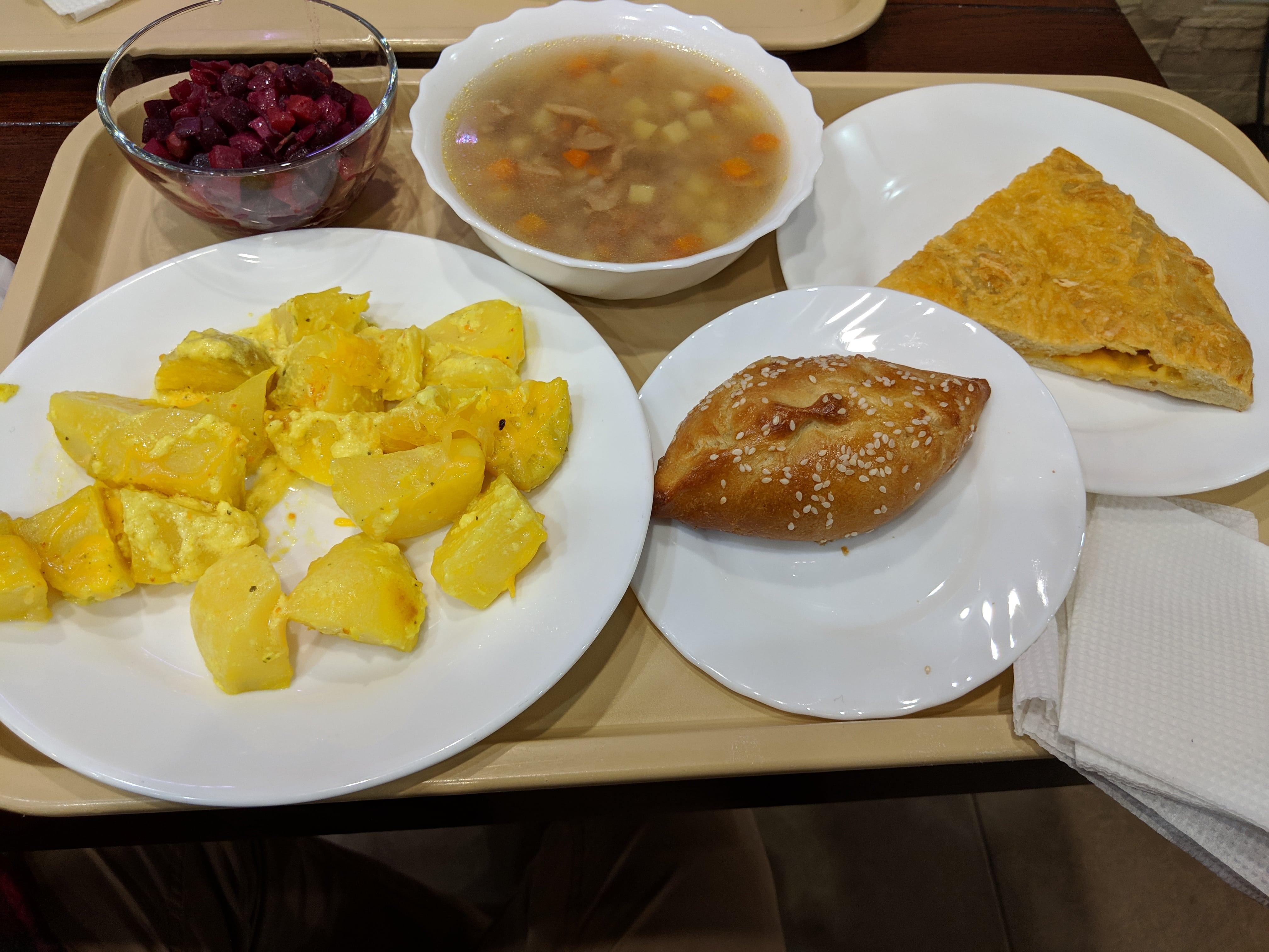 Vegetarian and Vegan Food in Russian Stolovaya