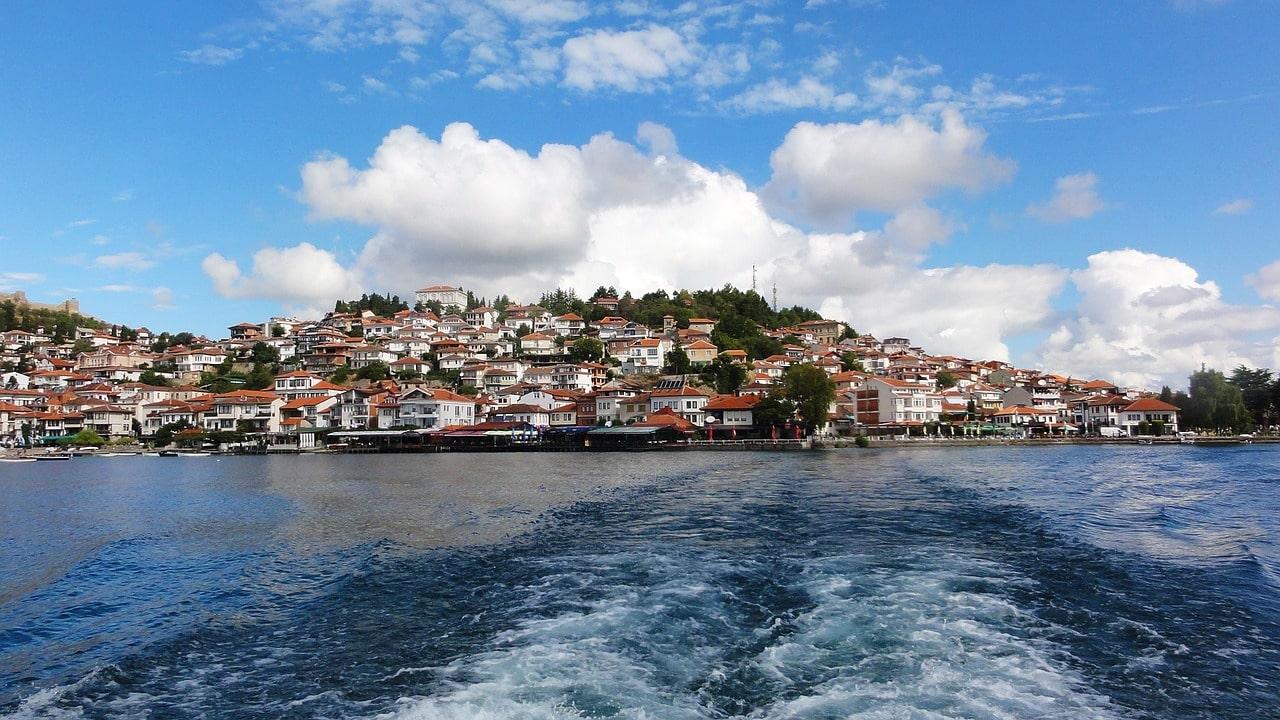 Boat ride Ohrid Lake Macedonia