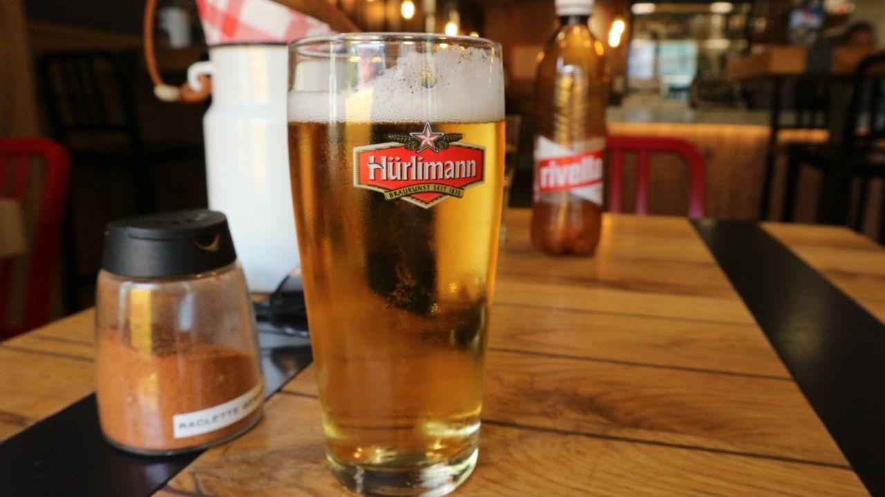 Hürlimann beer and rivella