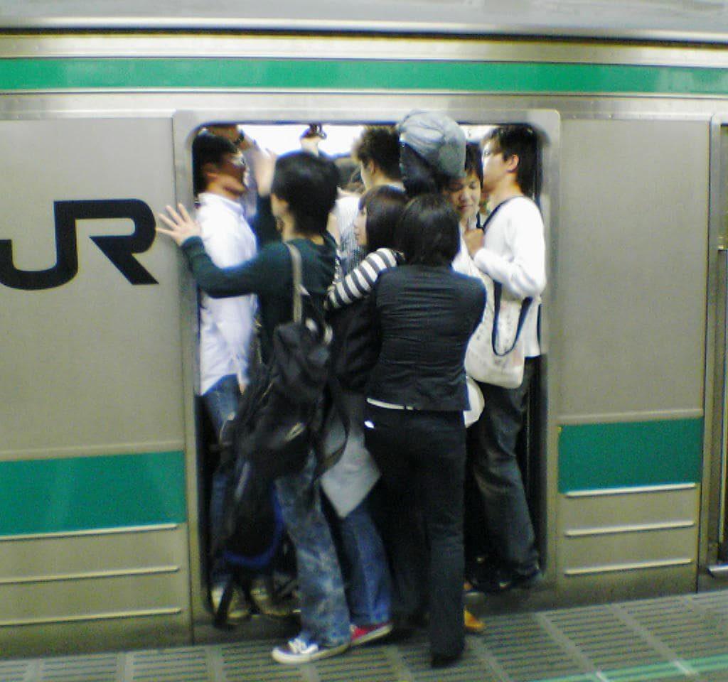 Japan Train Crowded