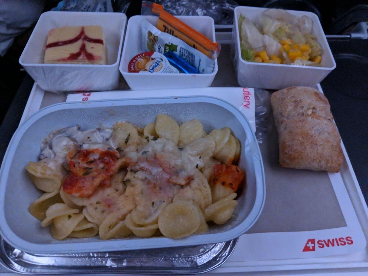 Swiss Airline Vegetarian Meal