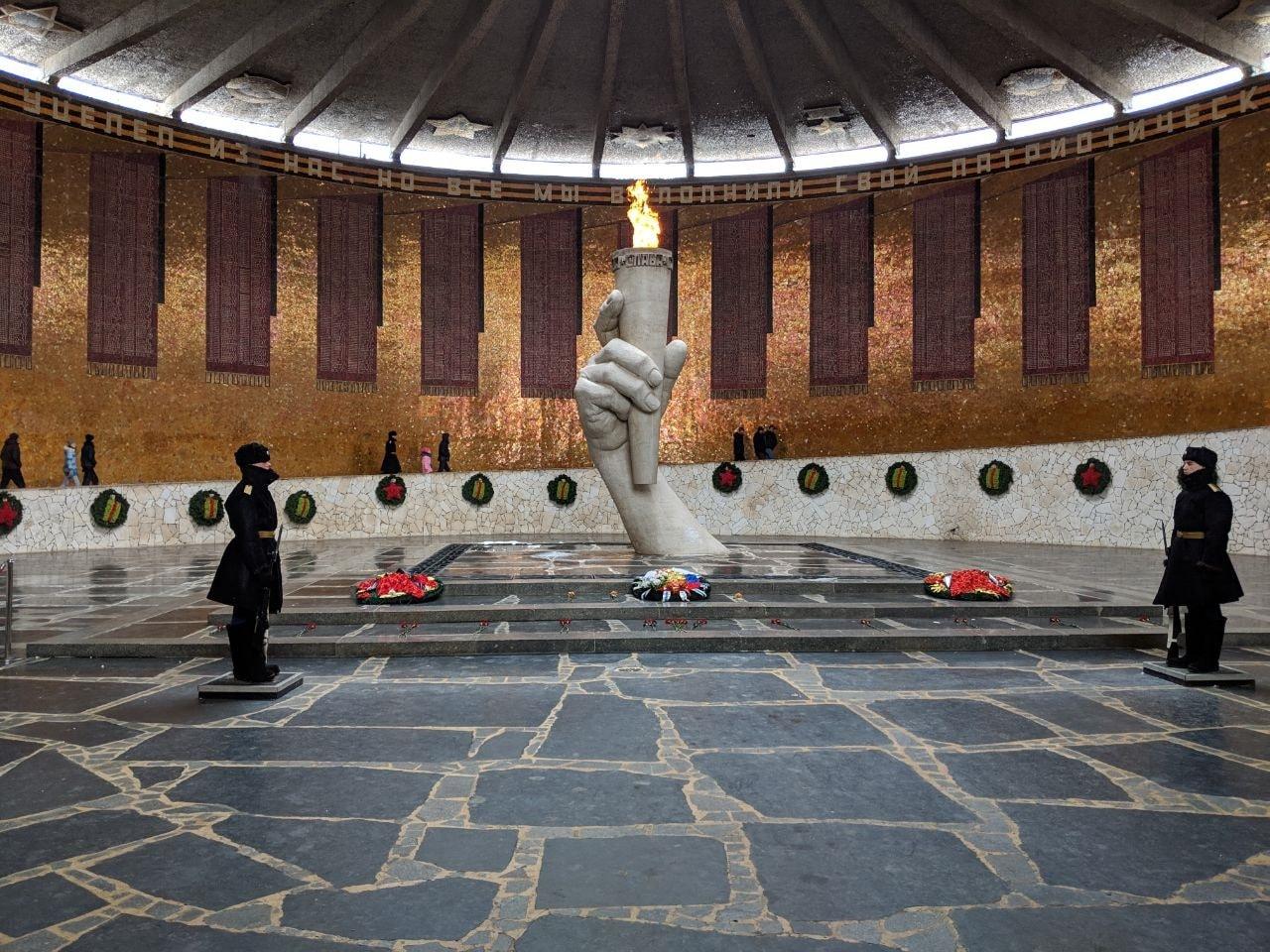 eternal flame at Rodina Mat' Zovyot mamaev kurgan volgogorad