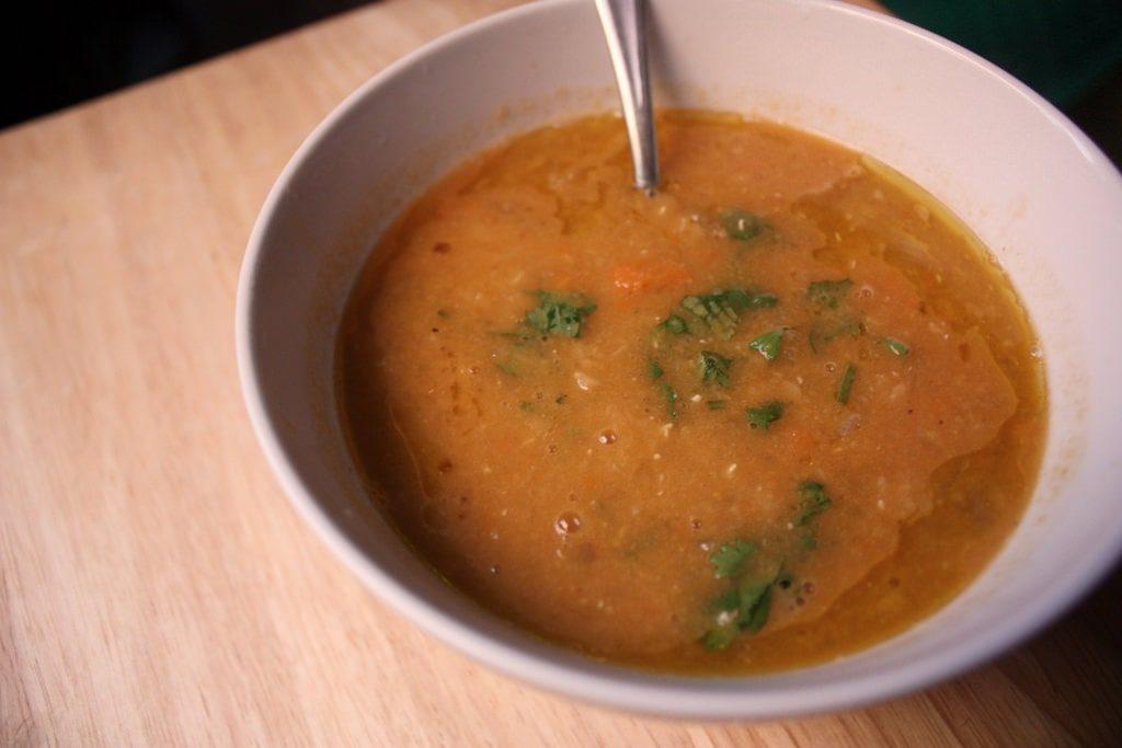 vegan turkish Red lentil soup