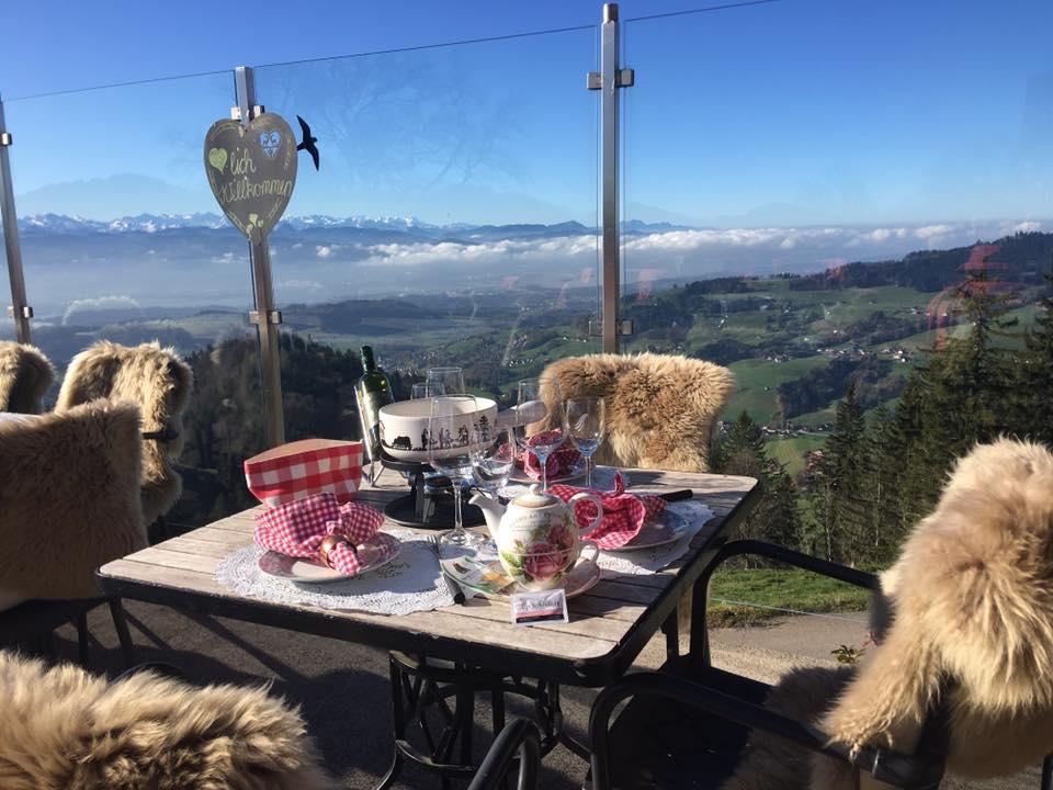 Alp Scheidegg Restaurant Table View