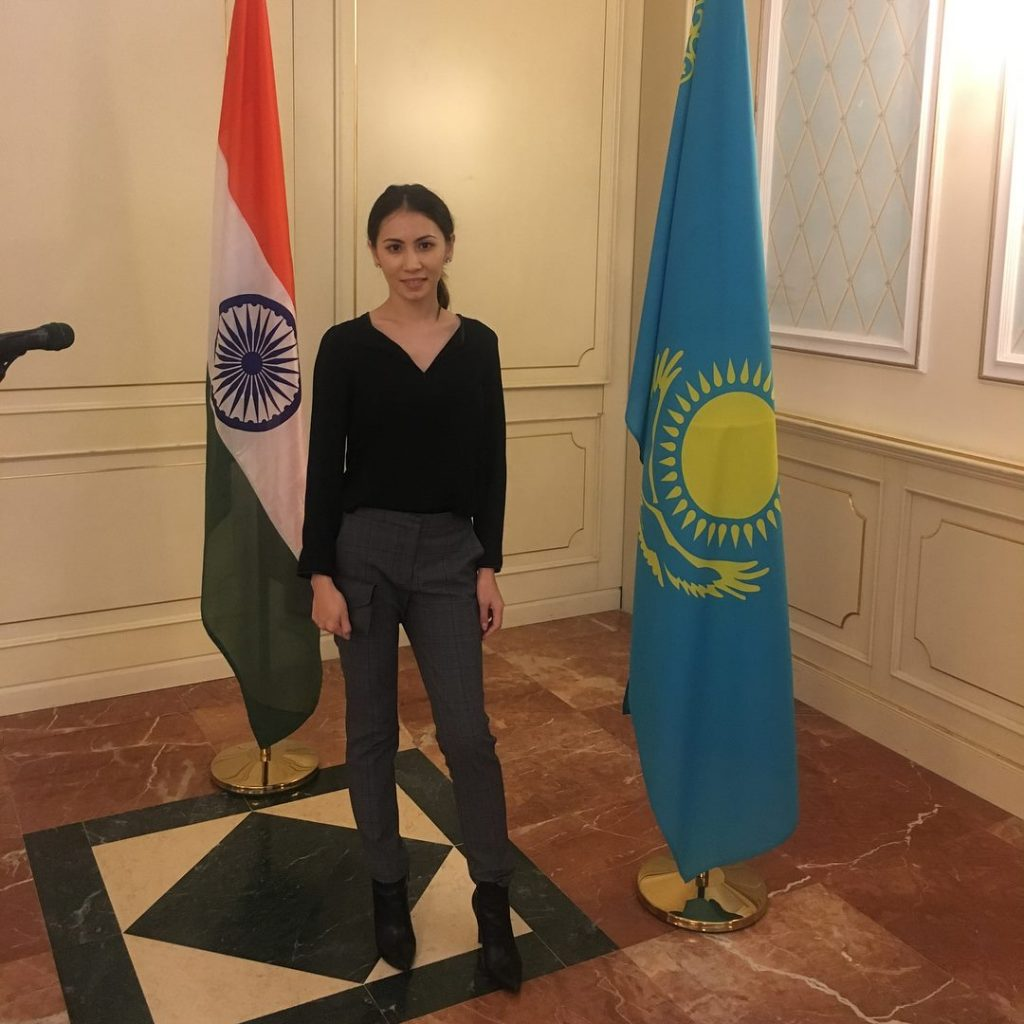 Aidana India Kazakhstan Flag