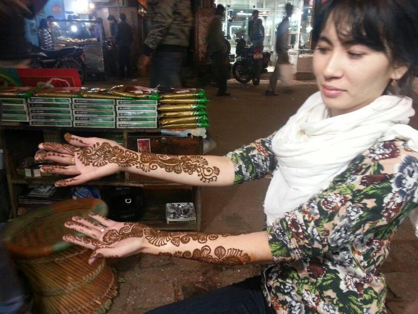 Aidana Mehendi holiday in India